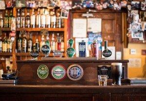 A bar at an Irish pub