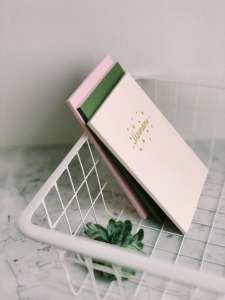 book in a basket
