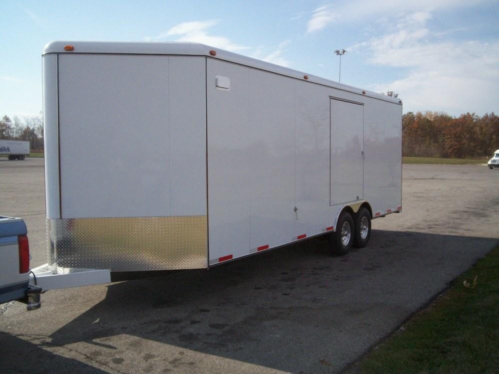 medium resolution of enclosed car trailers