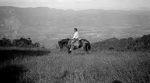Jack London on horseback