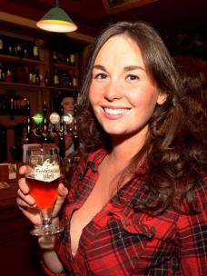 No Reproduction Fee Kate O'Brien, Coughlans Bar, pictured at the launch of the Franciscan Well Jameson-Aged Pale Ale. Pic John Sheehan Photography