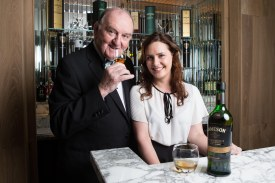 "DKANE 03/12/2015 REPRO FREE Pictured toasting the inaugural cultural Winter Whiskey Club masterclass 'Woman and Whiskey' at the River Lee are George Hook and Distiller Karen Cotter. The River Lee Winter Whiskey Club celebrated its inaugural session with a special masterclass entitled 'Women & Whiskey' led by female distiller Karen Cotter. Gathered with Cotter was a largely female audience who experienced a tasting flight of Ireland's finest whiskeys on the night, including Redbreast 12 year old, Greenspot, Jameson Black Barrel and Powers 12 year old. Karen Cotter, distiller at the Microdistillery at the Jameson Experience Midleton, which is part of Irish Distillers, said: ""Jameson has led the current surge in popularity of Irish whiskey – we've grown from less than 500,000 cases in the mid-1990s to 5 million cases this year. Jameson's signature smooth taste profile, Irish character and authenticity have won legions of fans globally and we have effectively communicated with consumers through marketing properties such as film and St. Patrick's Day. Ultimately, it's the taste of the product that secures its success and future potential – and we've got that in spades across our whole portfolio."" Research reveals that women make up just 25 per cent of whisky drinkers worldwide*, but that number is increasing as cocktail culture becomes embedded in society and the appreciation of provenance and taste grows. Woman are joining the ranks of self-confessed whiskey aficionados such as Christina Hendricks and Lady Gaga, who credits Jameson for helping her song writing. The River Lee has a number cultural events planned for the Winter Whiskey Club in the New Year including Whiskey & Culture with Sean O'Riordan, Whiskey & Fashion with the Irish Year of Design and Whiskey & Music with Triskal Arts Centre and Other Voices. For more information on upcoming Winter Whiskey events at the River Lee or to make a reservation visit www.doylecollect"