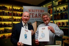 19/10/2017 - Walsh Whiskey Launch at L. Mulligan's Whiskey Shop at the Powerscourt Centre. Pictured were Bernard Walsh and Michael Lawlor. Photograph Nick Bradshaw