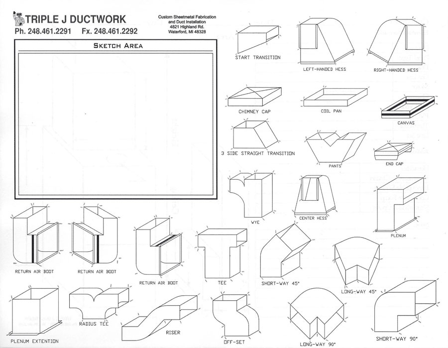 Drafting Stencils Ductwork Fittings