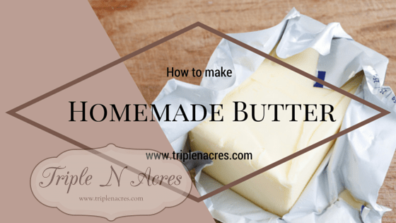 Homemade butter recipe