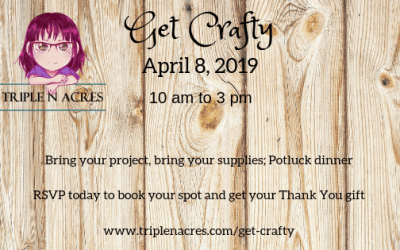 Last call to get your April Get Crafty Ticket
