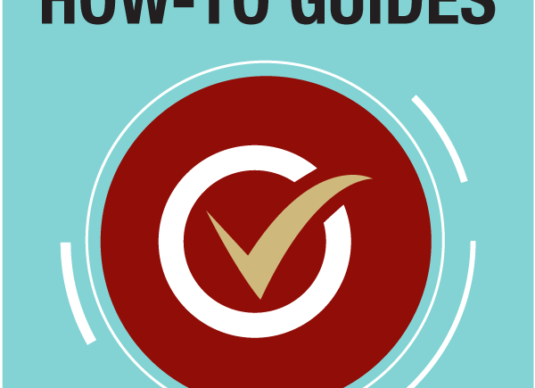 How to guide text at top on a light blue background with a red circle with a tick in the middle