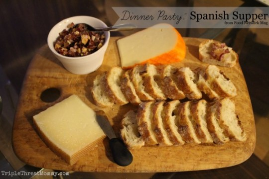 Dinner Party: Spanish Supper | Cheese Plate with Grape Tapenade via Food Network | TripleThreatMommy.com
