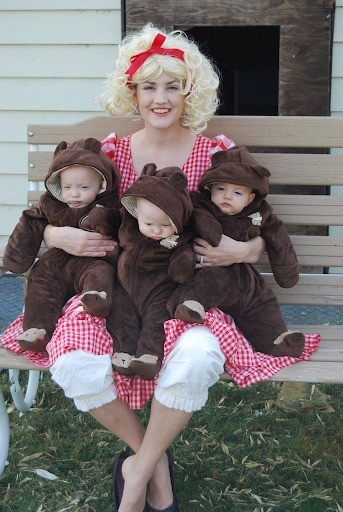Halloween costume for triplets