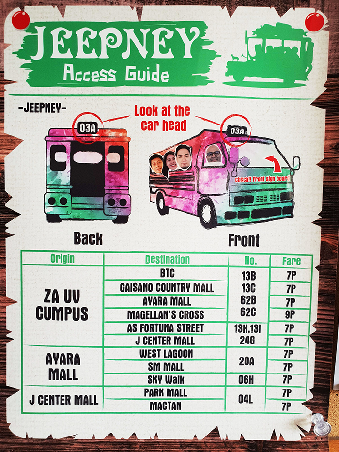 UV學校, 如何搭乘Jeepney去Ayala百貨, J center mall, 百貨公司