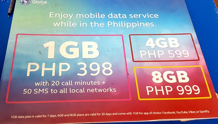 菲律賓Globe-網路方案,多少錢