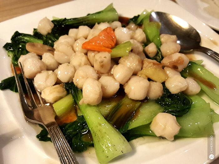 青菜炒干貝