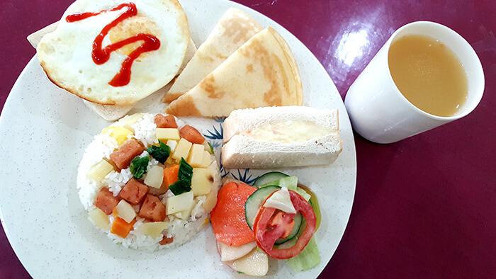 Philinter 早餐, 午餐, 晚餐