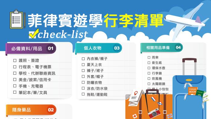 菲律賓遊學行李清單, 宿霧遊學如何準備行李