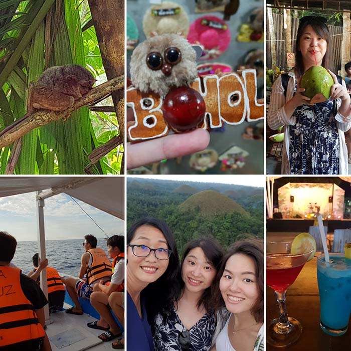 Bohol island , 薄荷島旅遊, 巧克力山, 眼鏡猴, 跳島
