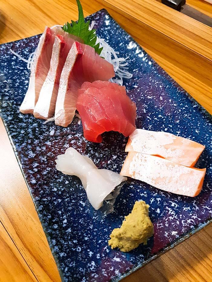 台北居酒屋, 台北日式餐廳, 生魚片, 鮭魚, 鮪魚