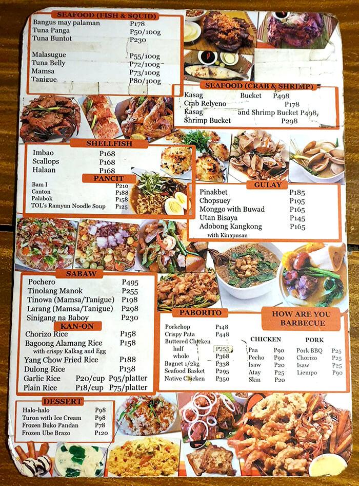 TOL菜單, MENU, 菜色, 價格