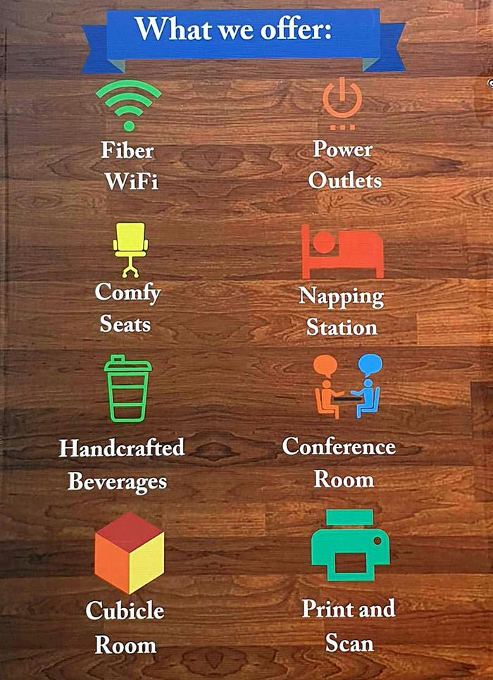 Workplace cafe環境設備, 網路, 電源, 舒適的環境