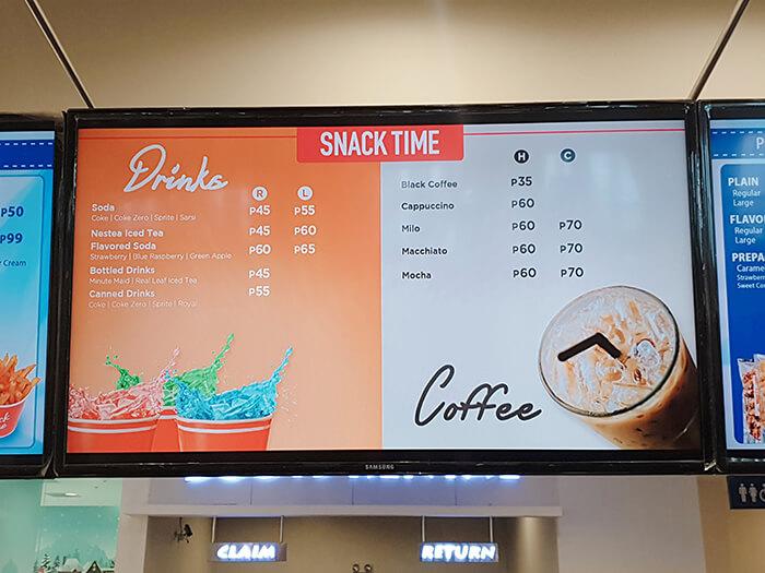 溜冰場內的販賣部, Snack time, 咖啡, 汽水, 飲料