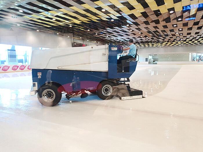 溜冰場, 場地清理, 清理時間