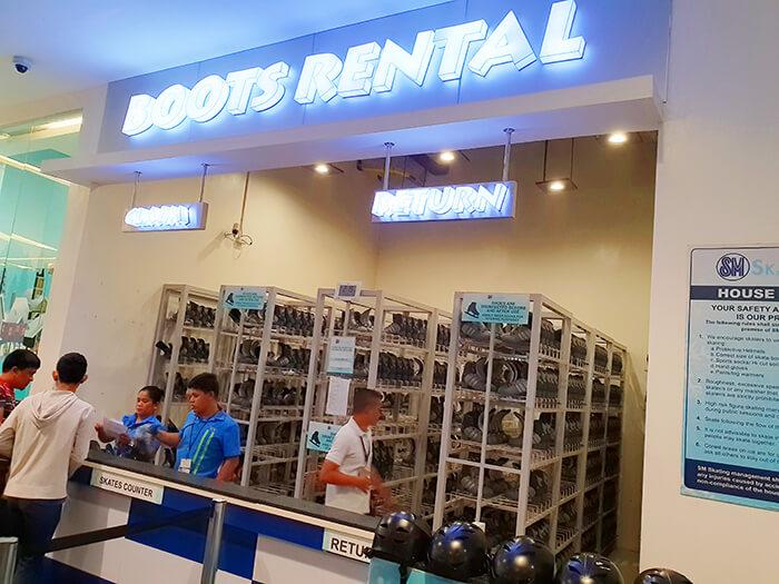 Boots Rental, 冰鞋租借櫃檯