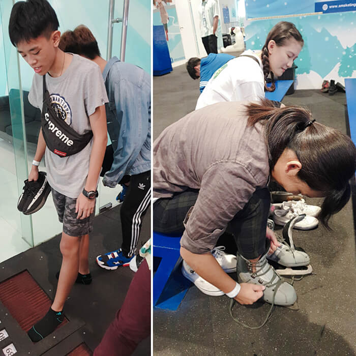 SM 溜冰, 量腳尺寸, 租借冰鞋, 注意事項