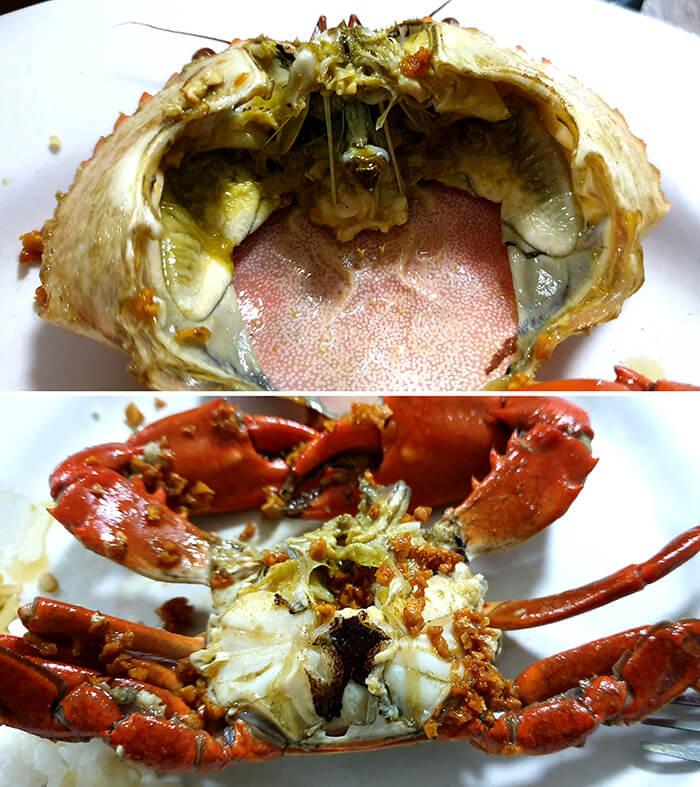 蒜香螃蟹, 蒜頭熱炒螃蟹 - Mr. Carb