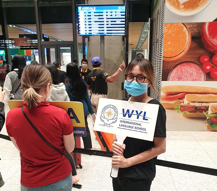 國際語言學校WYL接機, 宿霧國際機場