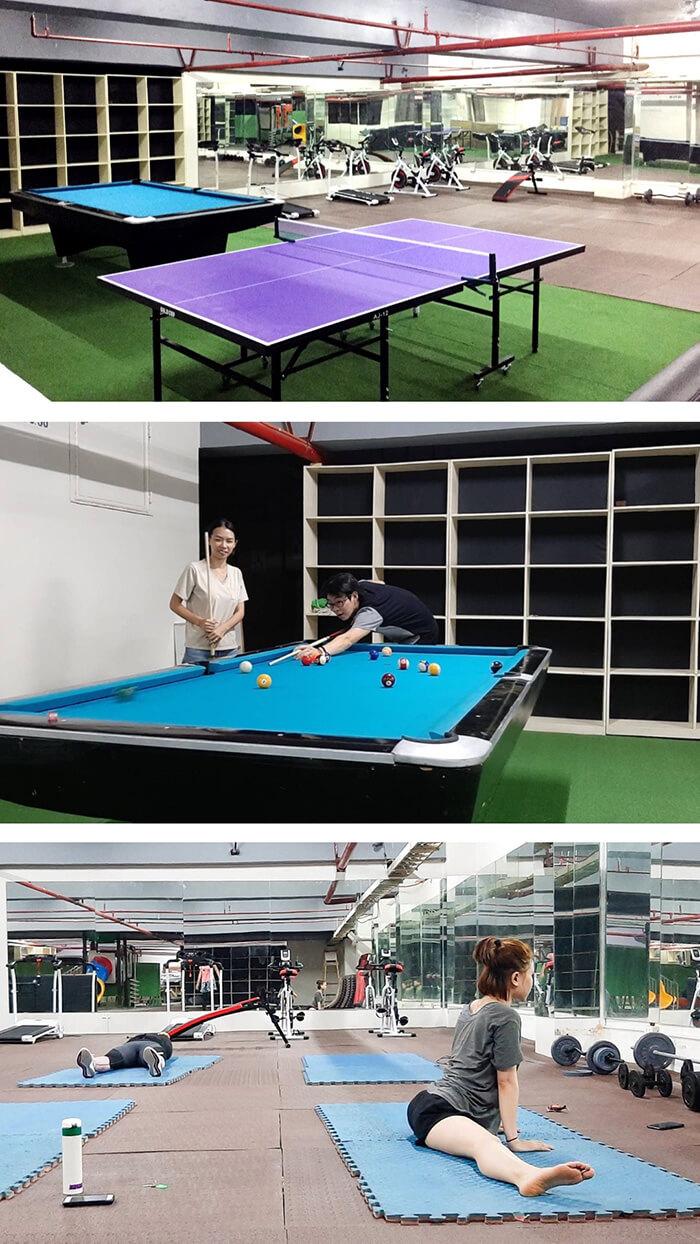 WYL語言學校- GYM, 健身房, 運動器材, 瑜珈, 撞球, 拼乓球