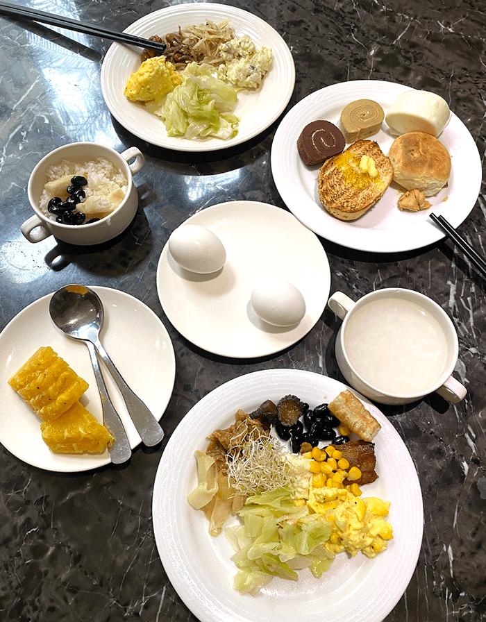山樂溫泉會館, 早餐