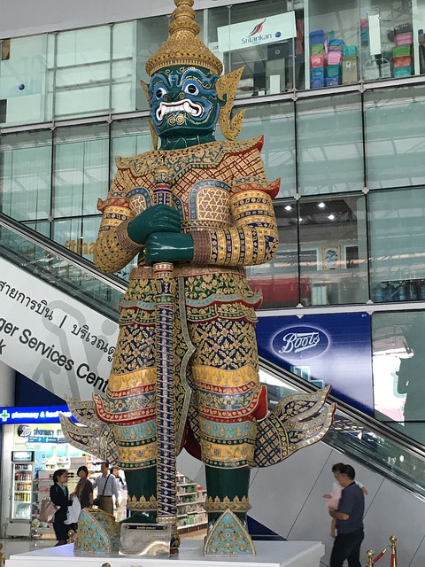 Thailand Airport Statue