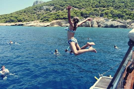 Jumping in to the sea