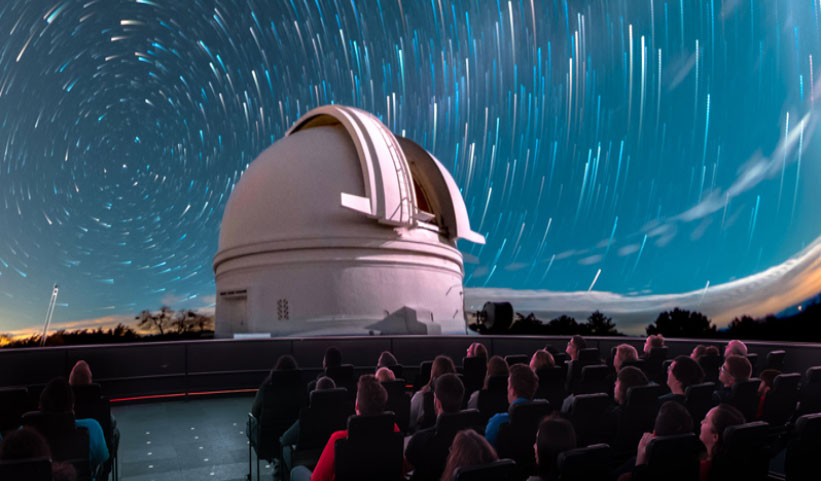 adler planetarium with 8K display show
