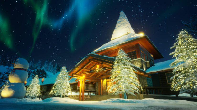 Beautiful Lapland in night