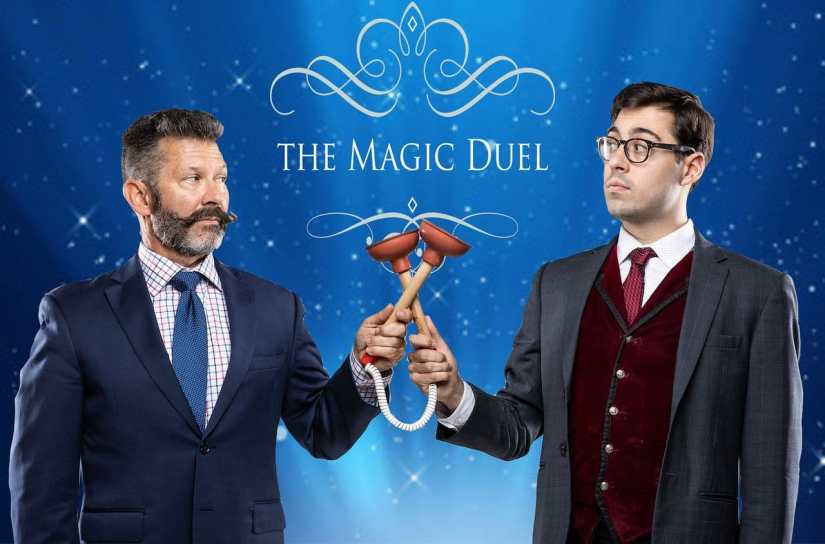 Mark Phillips and Brian Curry battle for the title of DC's Best Magician in The Magic Duel.