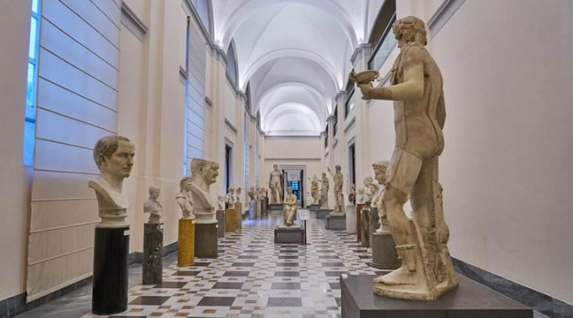 inside the National Archaeological Museum of Naples