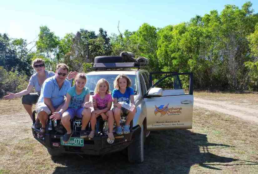 a family at Kakadu National Park