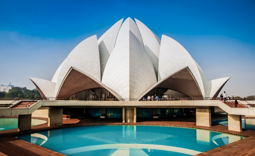 the main side of Lotus Temple