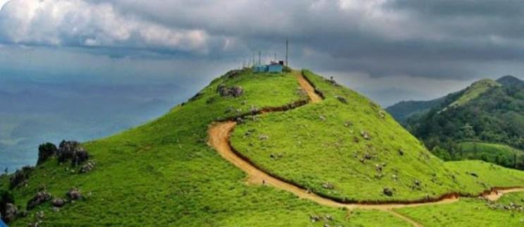 Ponmudi hills in Kerala