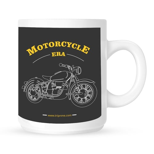 mug with motorcycle era