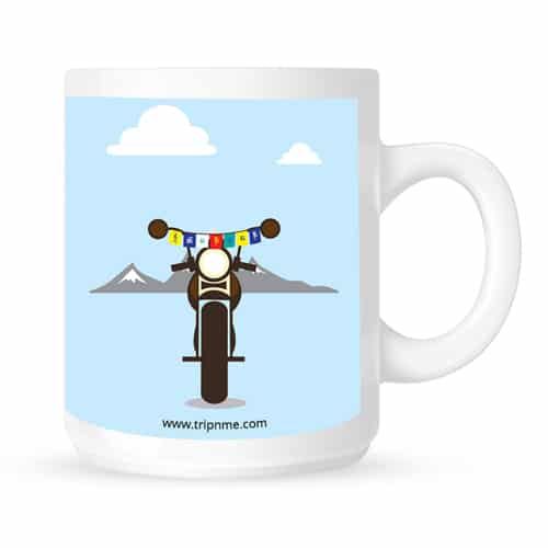 mug with mountain bike