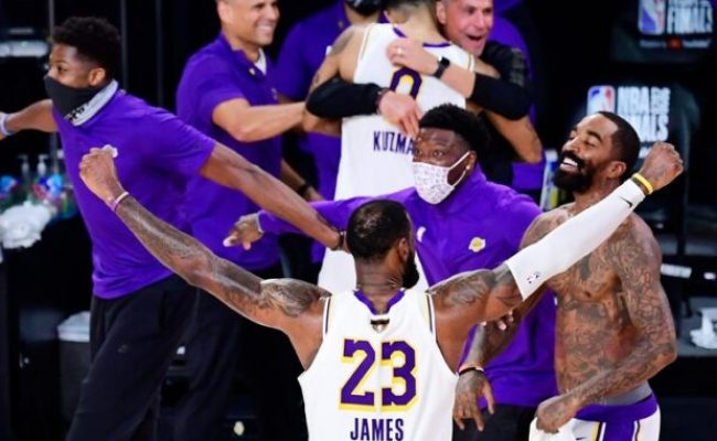 Lakers Win The National Basketball Association Finals