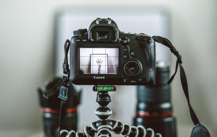 joby gorilla pod setup with DSLR camera