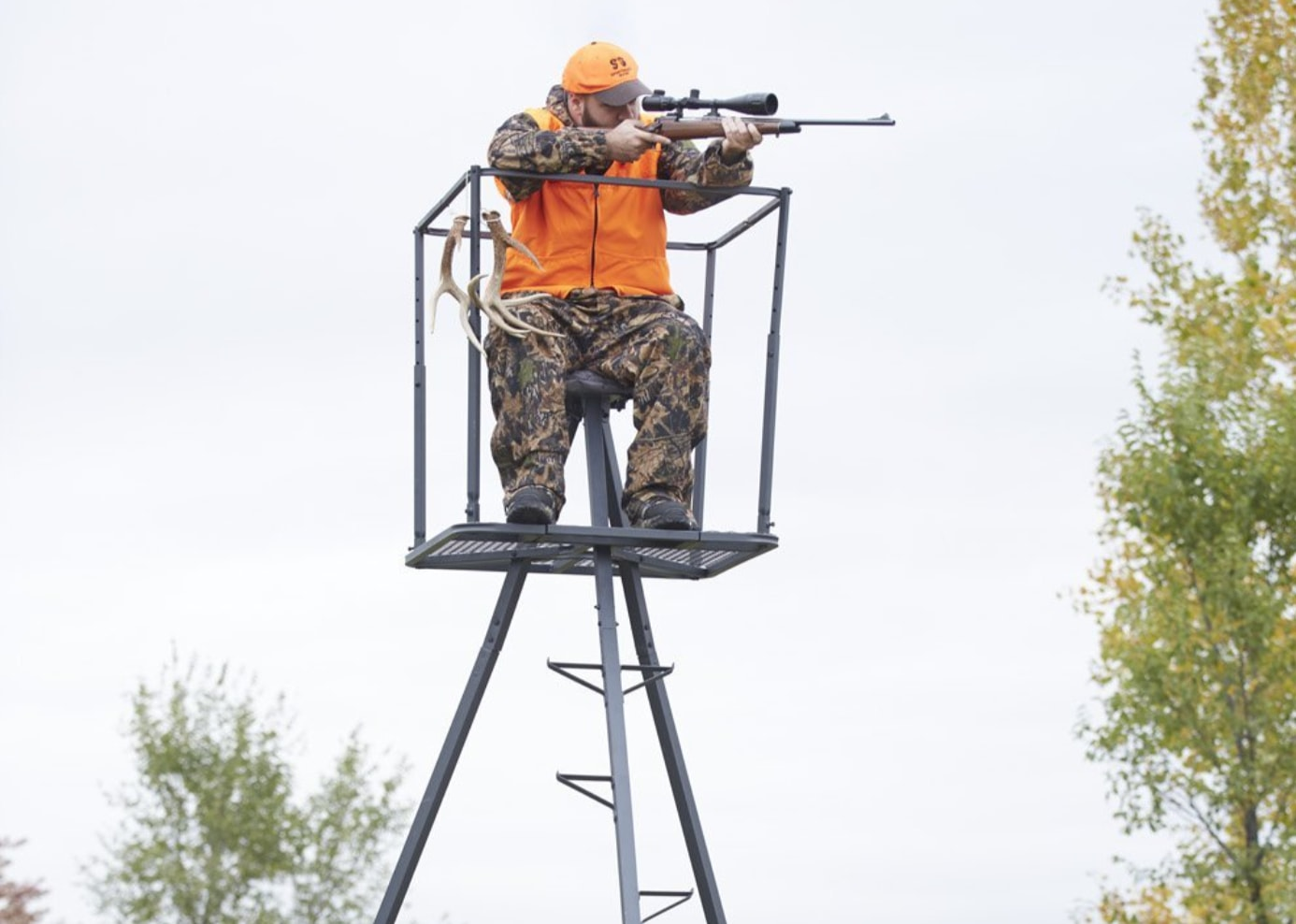 high chair deer stand chairs with casters top 5 best tripod stands for and bow hunting tripodyssey guide gear 13 deluxe editors pick