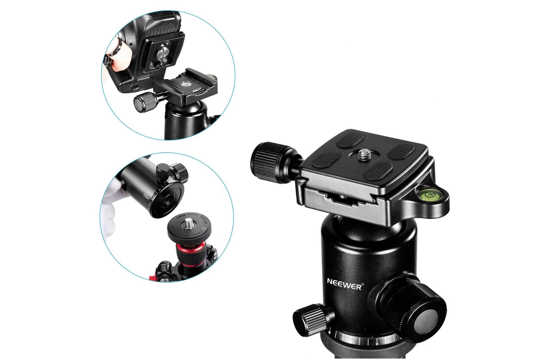 ball head and quick release plate of newer tripod