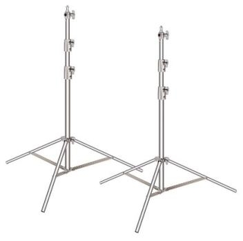 Neewer 2 Pieces Light Stand Kit, 114 inches/290 centimeters Stainless Steel Heavy Duty with 1/4-inch to 3/8-inch Universal Adapter Review