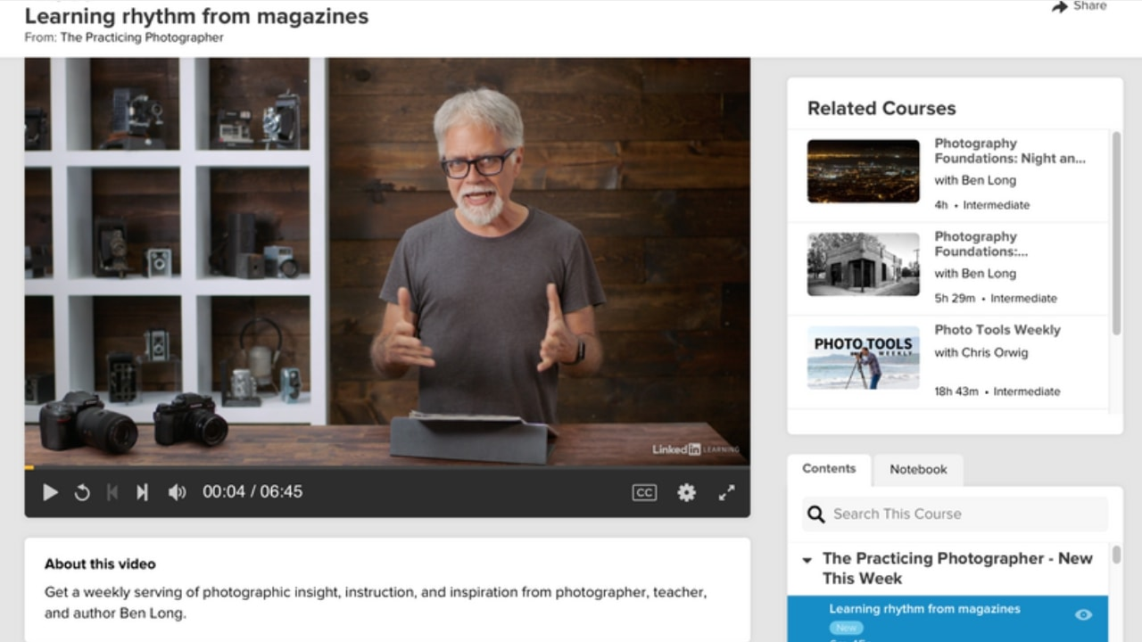 Lynda: Practicing Photographer online course free trial