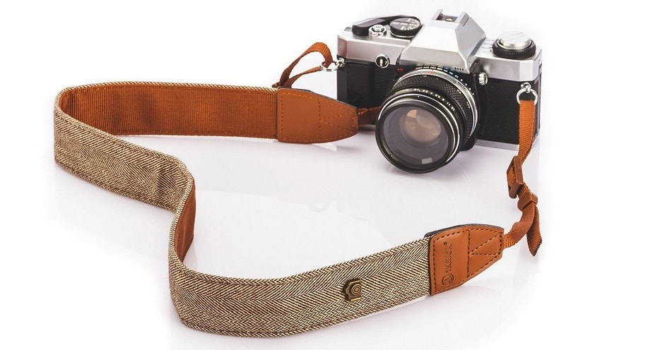 TARION Camera Shoulder Neck Strap Vintage Belt for All DSLR Camera Nikon Canon Sony Pentax Classic White and Brown Weave Review