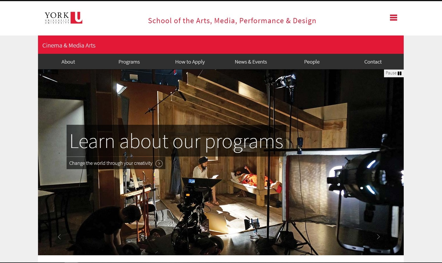 York University - School of the Arts, Media, Performance, & Design