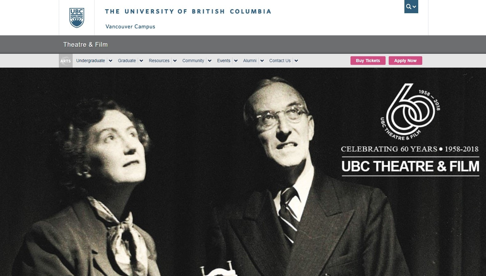 University of British Columbia Department of Theatre and Film